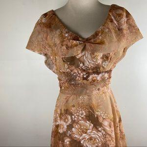 Vintage Rossella Luzy Bartzell Floral Dress Small?